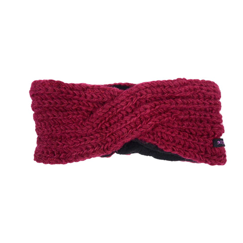 Nijens headband new wool NJ-Matar wine red