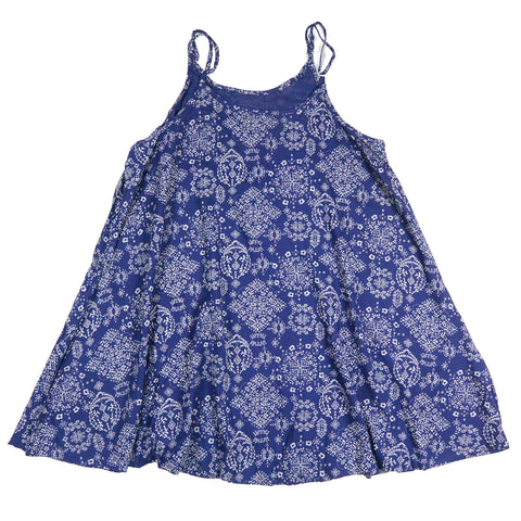 Nijens summer dress with adjustable spaghetti straps indigo viscose