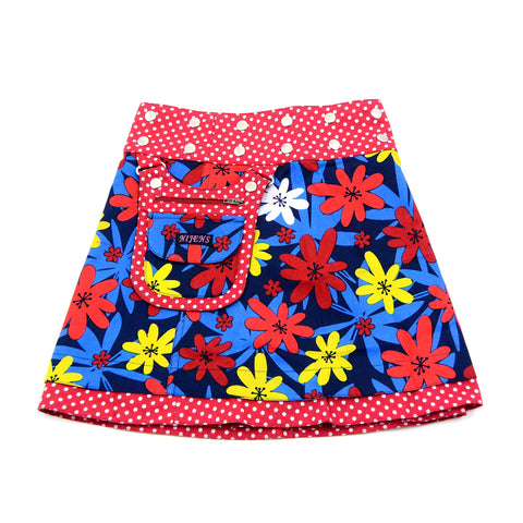Children's skirt reversible skirt for girls red skirt