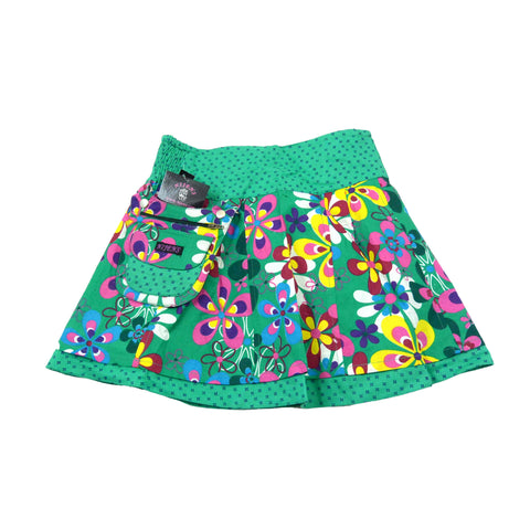 green reversible skirt for girls