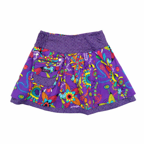 Beautiful reversible skirt children's skirt Nijens mini skirt purple