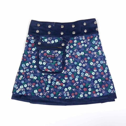 Children's skirt NijensMiniMalk Cord-116 flower pattern