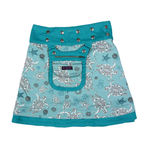 Nice reversible skirt children's skirt Nijens-Mini-Malk made of corduroy / cotton with little turtles