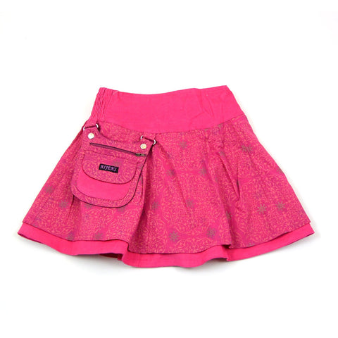 Nijens reversible skirt for girls in pink