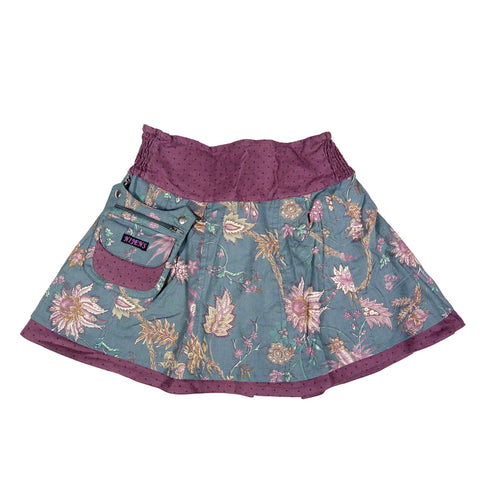 Nijens reversible skirt mini pavlana made of corduroy / cotton lilac light purple.