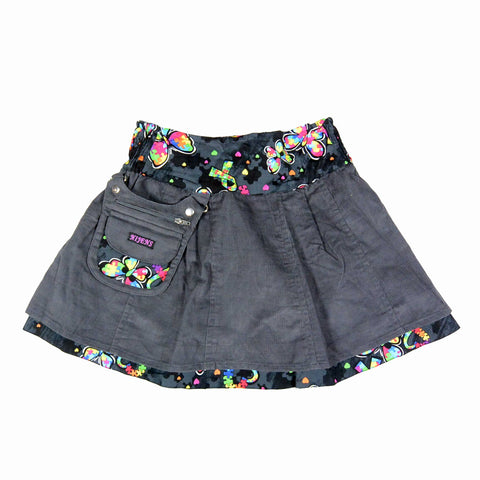 Nijens reversible skirt Mini-Pavlana made of corduroy / cotton butterflies