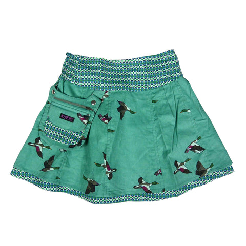 Nijens reversible skirt Mini-Pavlana made of corduroy / cotton ducks