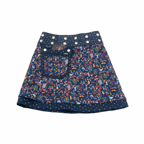 Children's skirt NijensMiniMalk dark blue-15