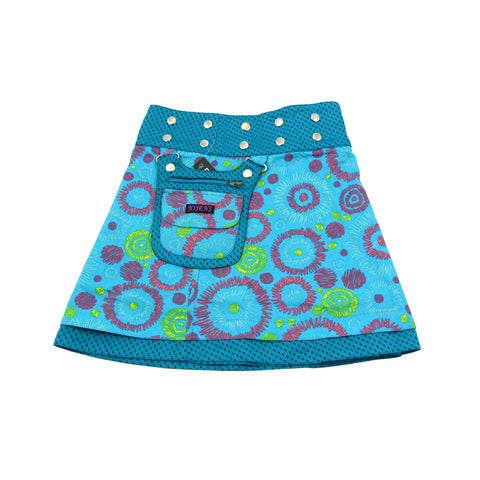 Children's skirt NijensMiniMalk blue-19