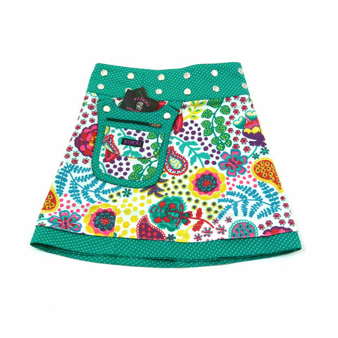 Nice reversible skirt Nijens cotton skirt for girls