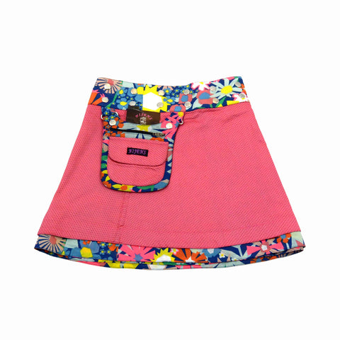 Nijens children's skirt organic cotton coral-24