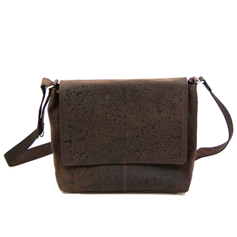 Leather bag NijensNJ 01 Brown Printed