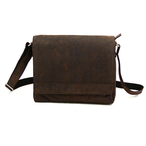 Nijens leather bag unisex bag brown