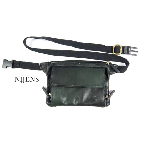 Nijens Leder Pouch Bag NJ-13 Flaschengrün