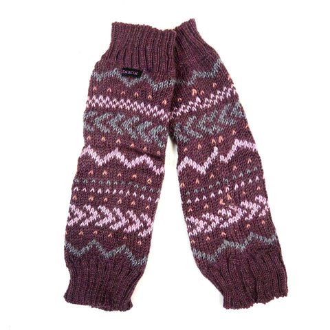 Warmes Winter Accessories Weiche Strick Stulpen Nagar-Dance Violett Bild