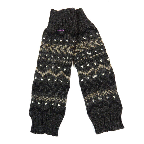 Warm Winter Accessories Nijens soft knitted cuffs Nagar-Dance Charcoal