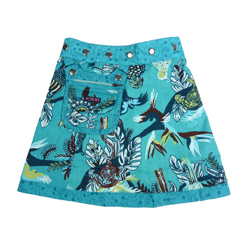 Nijens children's skirt beautiful mini cotton skirt in blue for girls