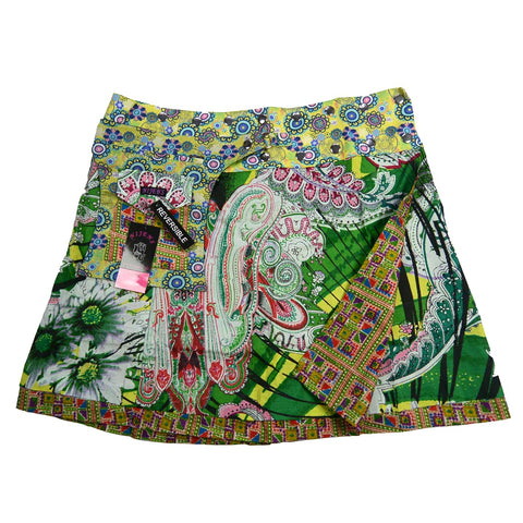 Nijens reversible skirt paisley grass green