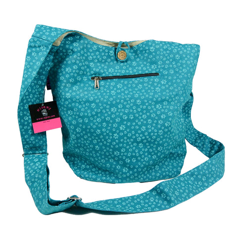Nijens shoulder bag small shopper paw turquoise
