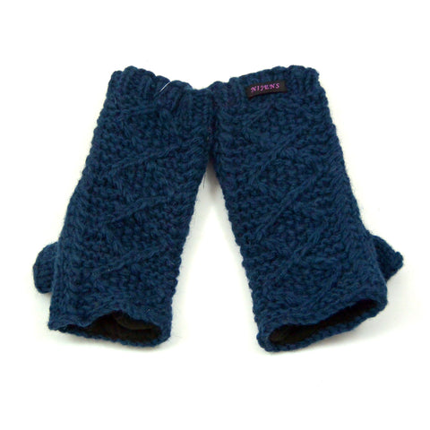 Winter time wool gift Nijens wrist warmer dark blue