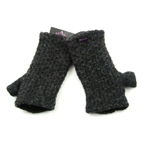Nijens wrist warmers Charcoal virgin wool
