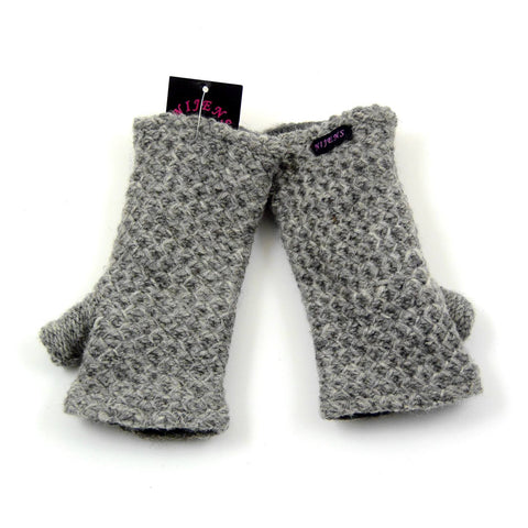 Nijens wrist warmer light gray virgin wool