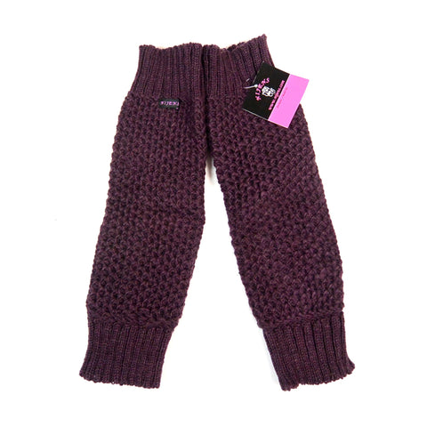 Nijens gauntlets wool plum NJ-Oryom-Dance