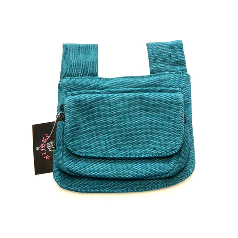 Turquoise bum bag to attach to your own belt