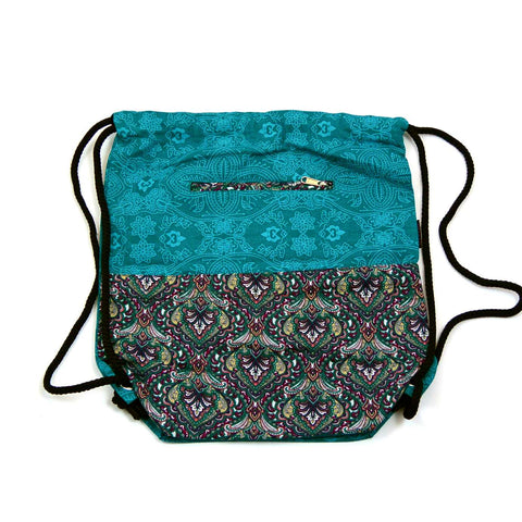 Nijens Ganga backpack made of canvas turquoise
