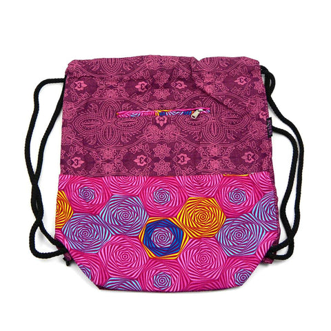 Nijens Ganga backpack Magenta-Om bag made of canvas