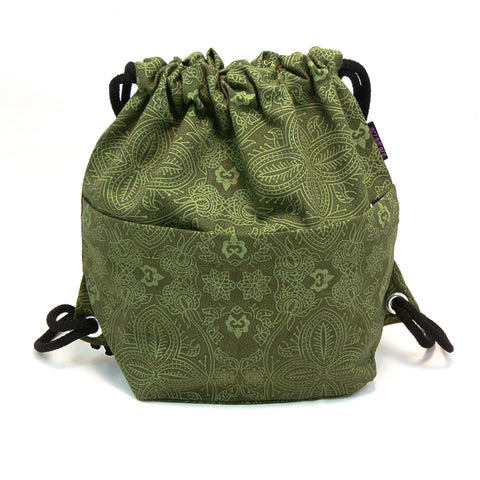 Backpack NijensPeethoo Bag - Green Pattern 01