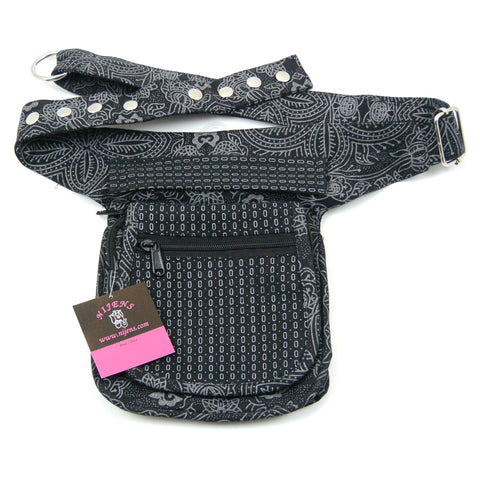 Nijens bum bag made of canvas in black for men and women