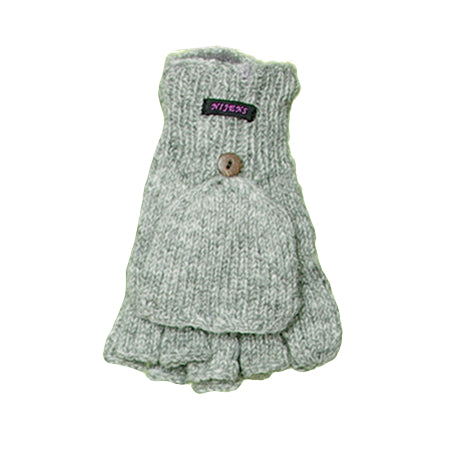 Nijens hand-knitted mittens light gray