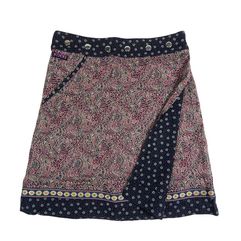 Nijens summer skirt wrap skirt made of rayon fabric paisley