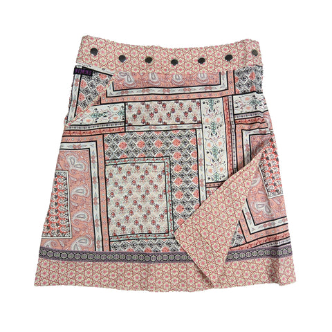Nijens summer skirt wrap skirt made of rayon fabric peach