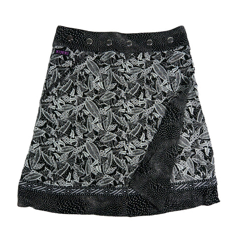 Nijens summer skirt made of rayon fabric black and white