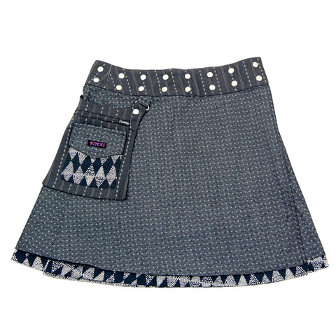 Nijens reversible skirt made of cotton gray