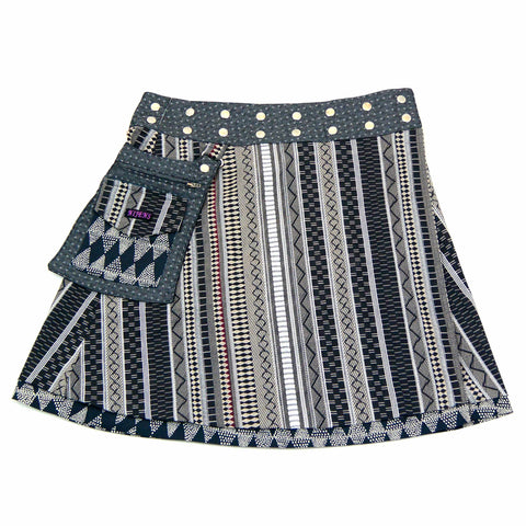 Reversible skirt Nijens Rasmalai-20 - gray ornament