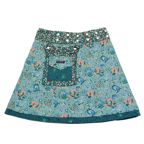 Reversible skirt wrap skirt green Nijens