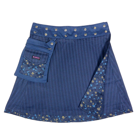 Reversible skirt Nijens Rasmalai - blue ornament-38
