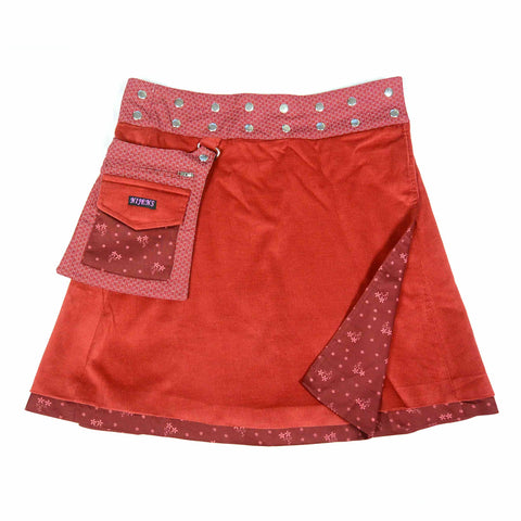 Reversible skirt Nijens Rasmalai-Corduroy Red-21