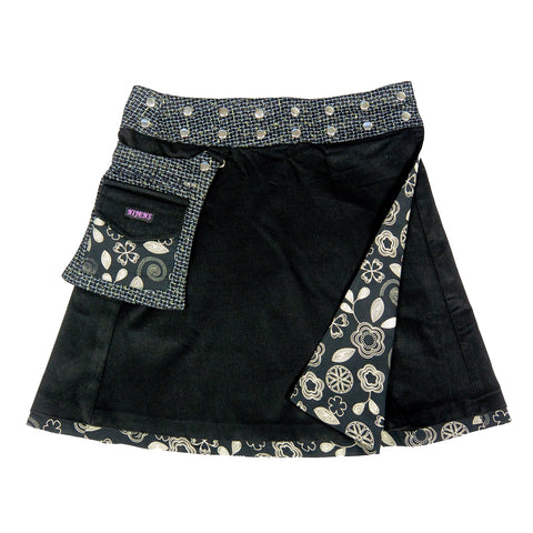 Wenderock Wickelrock Nijens Wrap skirt Corduroy black everyday skirt Foto