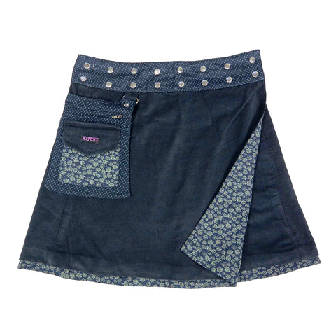 Reversible skirt NijensRasmalai Corduroy dark blue-24