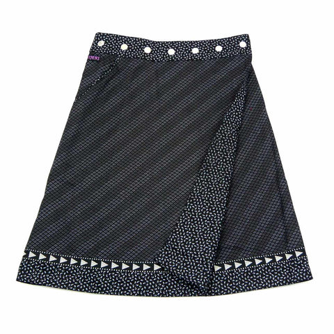 Reversible skirt Nijens Rocksana Midi Black