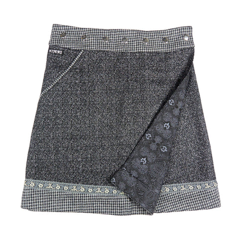 Reversible skirt Nijens Rocksana Tweed Long Gray-44