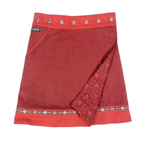 Reversible skirt NijensRocksana Tweed Long Red-203