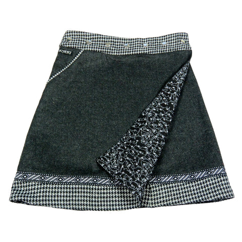 Reversible skirt NijensRocksana Tweed Long Black-207