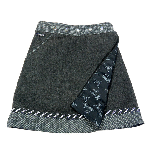 Reversible skirt NijensRocksana Tweed Long Black-227