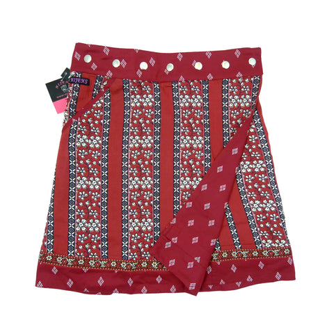 Nijens wrap skirt in a slight A-shape made of soft rayon fabric