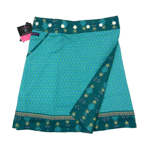Wrap skirt NijensRocksana Long Mint-27